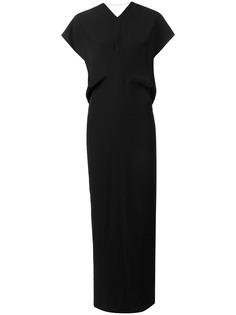 Poiret длинное платье с короткими рукавами