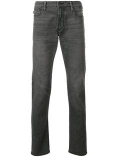 Emporio Armani джинсы узкого кроя с выцветшим эффектом