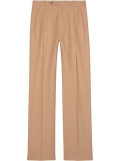 Gucci удлиненные брюки