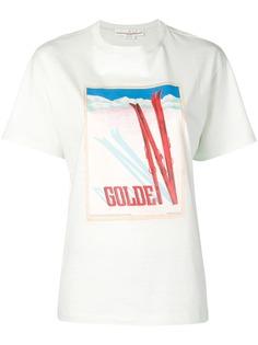 Golden Goose футболка с лыжами и логотипом