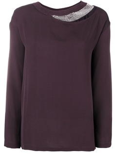 Fabiana Filippi блузка с длинными рукавами