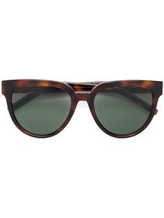 Saint Laurent Eyewear круглые солнцезащитные очки с эффектом черепашьего панциря