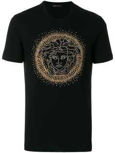 Versace футболка с заклепками Medusa