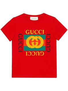Gucci Kids футболка с логотипом