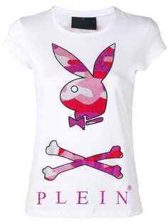 Philipp Plein футболка Philipp Plein x Playboy с камуфляжным принтом Playboy