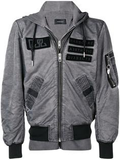 Diesel куртка-бомбер со вставками