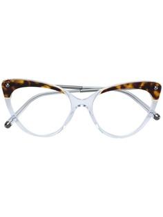 """Dolce & Gabbana Eyewear очки в оправе """"кошачий глаз"""" с эффектом черепашьего панциря"""