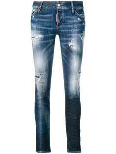 Dsquared2 джинсы кроя слим с потертостями