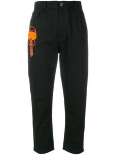 Fendi укороченные прямые джинсы Karlito