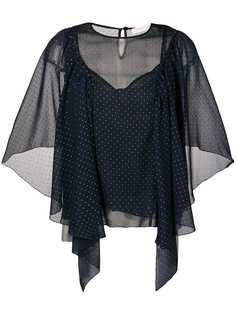 See By Chloé блузка с отделкой микрозаклепками