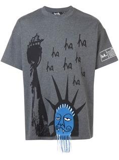 Haculla футболка с заниженной линией плеч Ha Ha Liberty