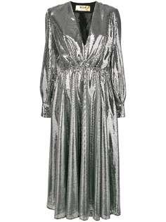 MSGM платье с пайетками и поясом