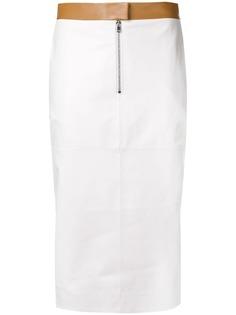Victoria Beckham юбка-карандаш с контрастной отделкой