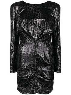 MSGM платье с леопардовым принтом и пайетками
