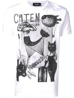 Dsquared2 футболка с принтом Caten