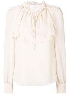 See By Chloé блузка с оборками на воротнике