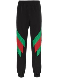 Gucci спортивные брюки с полосками Web