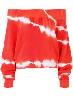 MSGM свитер с открытыми плечами и эффектом тай-дай