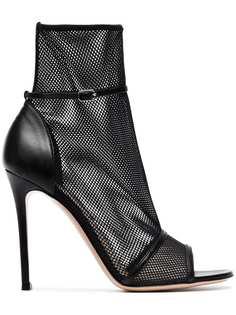Gianvito Rossi сетчатые ботинки Idol 105 с открытым мыском