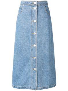 Christian Wijnants джинсовая юбка с выцветшим эффектом