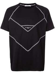 Givenchy футболка с контрастным принтом