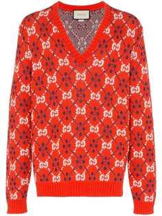 Gucci свитер с узором GG