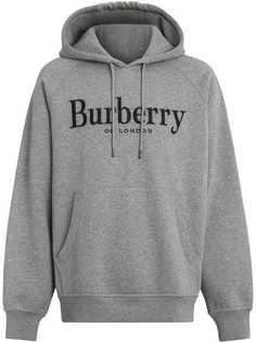 Burberry толстовка с капюшоном и логотипом