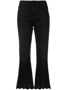 FRAME расклешенные укороченные джинсы