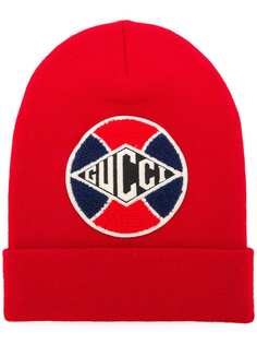 Gucci шапка бини с нашивкой