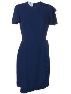 Prada платье с оборкой