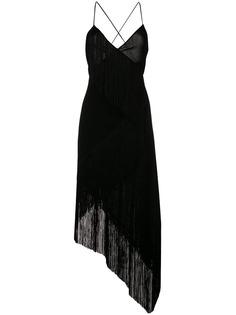 Givenchy платье с бахромой на подоле