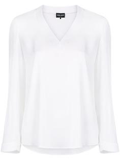 Giorgio Armani блузка с V-образным вырезом