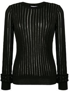 Helmut Lang прозрачный свитер в полоску