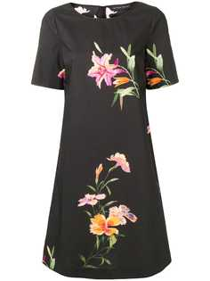 Etro платье прямого кроя с цветочным принтом