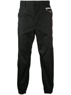 Prada укороченные зауженные брюки