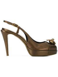 Chanel Pre-Owned туфли-лодочки с цветочной аппликацией