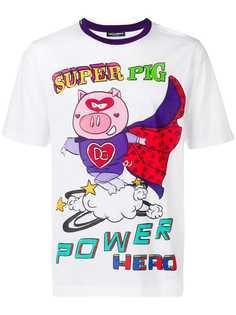 Dolce & Gabbana футболка с принтом Super Pig