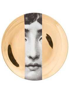 Fornasetti тарелка с изображением лица