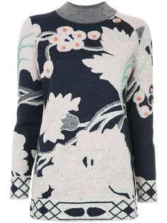 Onefifteen свитер с цветочным принтом