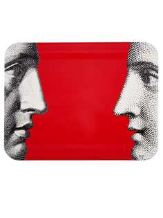 Fornasetti поднос Profili on Red
