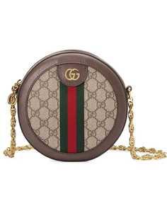 Gucci мини-сумка на плечо Ophidia с узором GG