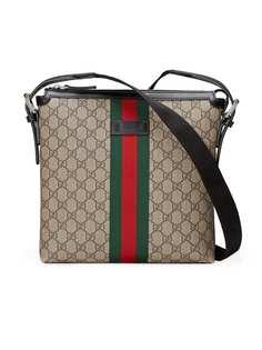 Gucci сумка-мессенджер с отделкой Web и узором GG Supreme