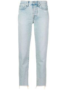 Off-White укороченные зауженные джинсы