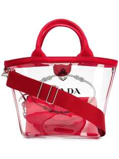 Prada прозрачная сумка-тоут с логотипом