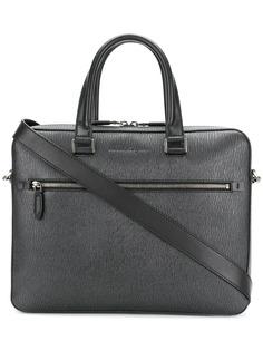 Salvatore Ferragamo текстурированная сумка для ноутбука