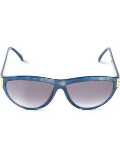 Yves Saint Laurent Pre-Owned солнцезащитные очки с мраморным эффектом