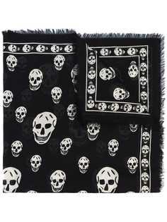 Alexander McQueen шарф с рисунком Skull