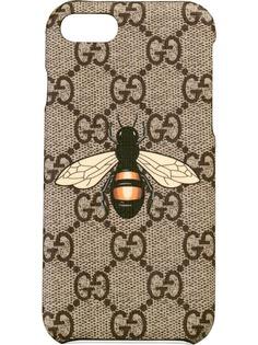 Gucci чехол для iPhone 8 с принтом пчелы
