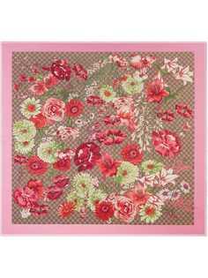Gucci шаль с принтом весенних цветов