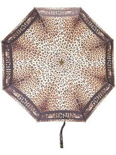 Moschino зонт с леопардовым принтом